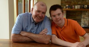 Colin Fogarty and son Conor at home in Sutton. Photograph: Cyril Byrne