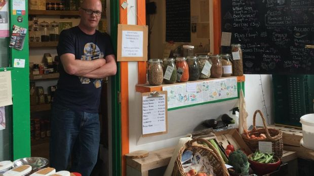 "Small Changes Wholefoods, in Drumcondra: when Peadar Rice first opened the store, in 2010, he says it took ""a lot of convincing people"" to try it out"