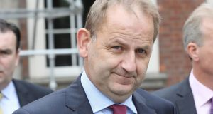 Sergeant Maurice McCabe at the Disclosures Tribunal in Dublin Castle. Photograph:  Collins