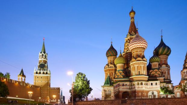 St Basil's Cathedral: when we get our first glimpse of it by night there is an audible gasp. Photograph: Max Ryazanov/Moment/Getty