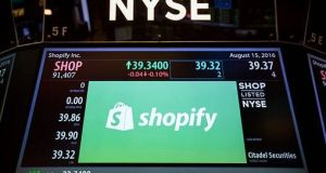 "Minister for Jobs Frances Fitzgerald said she was ""very impressed"" by Shopify's business model. Photograph: Getty Images"