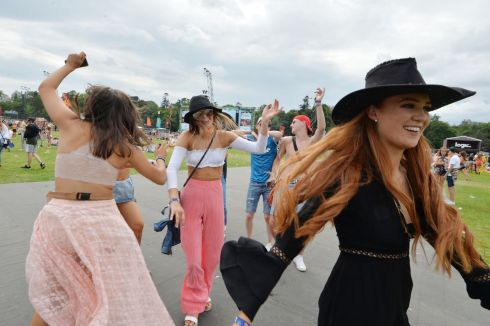 Revellers  enjoying the first day of Longitude music festival  at Marlay Park. Photograph: Alan Betson / The Irish Times