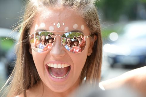 Anna Butler enjoying the first day of Longitude. Photograph: Alan Betson/The Irish Times