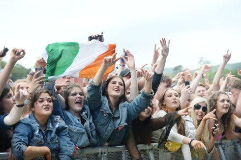 The Crowd watch G-Eazy. Photograph: Alan Betson/The Irish Times