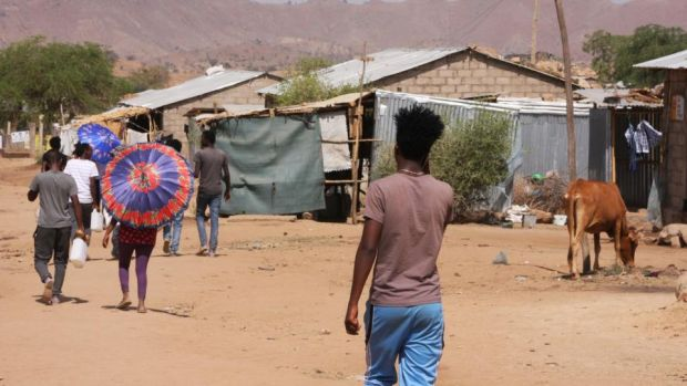 Every day Eritrean refugees make the perilous journey across the border into Ethiopia