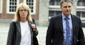 "Kay McLoughlin with Gerard Lowry at Dublin Castle. ""I failed to appreciate that there was a significant error on the file and I failed to review the file thoroughly,"" Ms McLoughlin told the tribunal. Photograph: Collins"