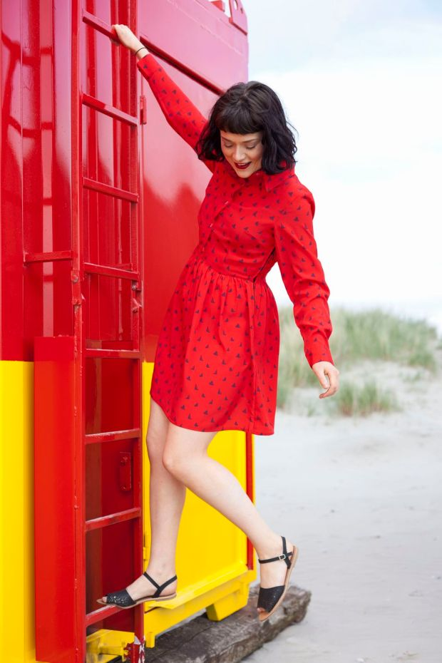 Red Laura shirt dress, €65