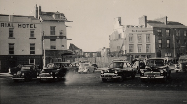 The Royal Hotel in Eyre Square was knocked down and replaced with Woolworths in 1956. Photograph: Kennys Bookshop Galway