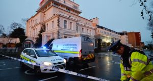 Gardaí at the scene of the shooting at the Regency Hotel in Dublin last year. Photograph: Alan Betson