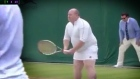 Irish man squeezes into tiny white skirt at Wimbledon