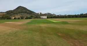 A general view of the main square  at the European Cricket Performance Centre in La Manga