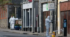 Garda Technical members at the scene in Swords. Photograph: Nick Bradshaw/The Irish Times
