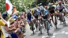 Daniel Martin of Ireland, Romain Bardet of France, Alexis Vuillermoz of France, Fabio Aru of Italy and Alberto Contador of Spain  on stage 15 of the Tour de France. Photograph: Reuters/Jeff Pachoud