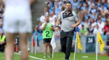 Kildare manager Cian O'Neill patrols the sideline at Croke Park yesterday. Photograph: Inpho/Oisín Keniry