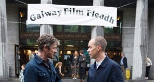 Barry Ward and Tom Vaughan Lawlor at the World Premiere of Irish thriller 'Maze' at Galway Film Fleadh. Photograph: Xposure