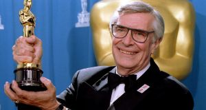 Martin Landau displays the Oscar he won for Best Supporting Actor at the 67th Annual Academy Awards in Los Angeles ,March 27th, 1995. File photograph: Blake Sell/Reuters