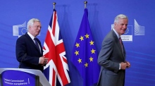 'Time to get to work': Brexit negotiators start first round