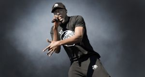 Grime artist Stormzy performs at the TRNSMT music festival in Glasgow  on July 8th, 2017. Photograph: Andy Buchanan/AFP/Getty Images
