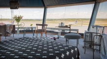 Old airport control tower turned into holiday apartment