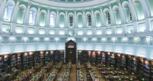 The main reading room in the National Library. The library is to carry out a crawl of all Irish websites later this year.