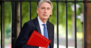 "Britain's chancellor of the exchequer, Philip Hammond: comments that trains were so easy to drive ""even a woman"" could do it were leaked. Photograph: Tolga Akmen/Reuters"