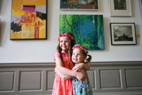 FESTIVAL READY: Maisy and Betsy Hannon at King House in Co Roscommon, ahead of the opening of the Boyle Arts Festival. Photograph: Brian Farrell