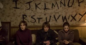 Netflix hit Stranger Things, which stars (from left) Winona Ryder, Charlie Heaton, and Natalia Dyer, received 18 nominations in this year's Emmy awards