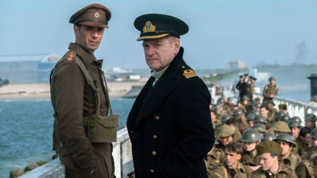 Kenneth Brannagh in a scene from Christopher Nolan's Dunkirk