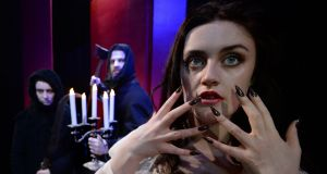 Sarah Brady  in Vampirella at Smock Alley Theatre: The group hosted 10 festivals and 152 companies presenting 707 performances in 2016.  Photograph: Cyril Byrne / The Irish Times