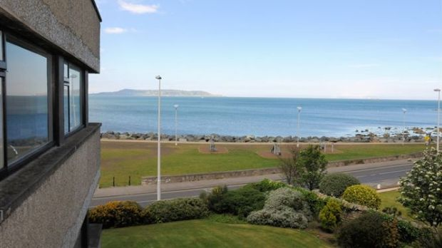 A two-bedroom apartment at Seabank Court in Sandycove is listed at €595,000
