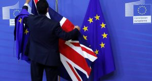 "Brexit talks: Moody's said the probability that negotiations could fail with no agreement being reached was still ""substantial"". Photograph: Yves Herman/Reuters"