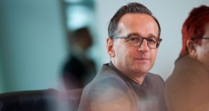 German minister for justice Heiko Maas: last two years have  seen a tripling of hate speech and other criminal content on social media platforms. Photograph: Steffi Loos/AFP/Getty Images