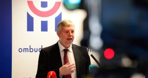 Ombudsman Peter Tyndall speaking about the publication of a report into Tusla's procedures for handling complaints. Photograph: Cyril Byrne