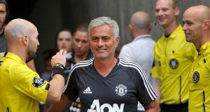 José Mourinho is aiming for a 15-year stay at Manchester United. Photograph: Gene Sweeney Jr/Getty