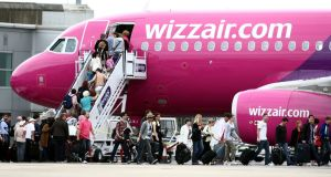 Low-cost European airline Wizz Air has reported a record set of results, helped by a strong Easter and high demand for travel in Eastern Europe. Photograph: Steve Parsons/PA Wire