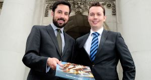 Eoghan Murphy, Minister for Housing, Planning and Local Government, and Padraig Rushe, chief executive of Initiative Ireland. Photograph: Maxwell