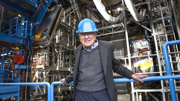 "A history of Ireland in 100 words: 39 – quark. Murray Gell-Mann (above, at Cern) called his subatomic particles quorks until he noticed the line ""Three quarks for Muster Mark!"" in Finnegans Wake. Photograph: Cern"