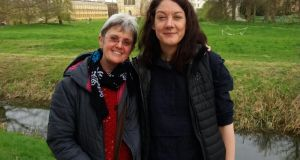 Helen Macdonald, right, with is Refugee Tales worker Avril