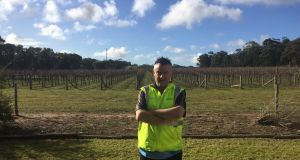 Wolf Blass packaging manager Michael Byron in Adelaide: 'Our wines can take three months to get from our warehouses to stores in Ireland'.