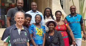 Bernard O'Connell(left), a director of Traidlinks is pictured with African women entrepreneurs from Burundi on a trade mission to Democratic Republic of Congo