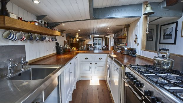 Xylonite: the Dunkirk boat's kitchen