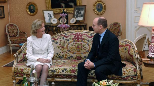 Ambassador Anne Anderson with Prince Albert II in Monaco: she is nearing end of a 45-year career at the Department of Foreign Affairs