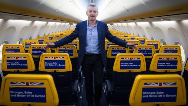 "Ryanair chief executive: Michael O'Leary has hailed Open Skies as ""the stand-out achievement of the EU over the last 25 years."" Photograph: Stefan Rousseau/PA Wire"
