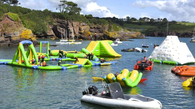 Wibit: taking the humble obstacle course to the next level, the Dunmore East course is an obstacle extravaganza on water
