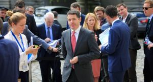 "Minister for Finance Paschal Donohoe: ""Provision for further new expenditure measures in 2018 would require that departments identify funding for such measures by reprioritisation within the overall current expenditure ceiling."" Photograph: Gareth Chaney Collins"
