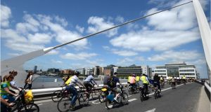 Detailed information about every community in Ireland, including how many people cycle to work,  has been published by the CSO. File photograph: Dara Mac Dónaill/The Irish Times