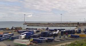 Eight people including two children were found in a container on a ferry into Rosslare Europort in Co Wexford on Thursday afternoon. Image: Google Streetview.