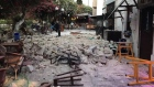 Amateur video captures aftermath of earthquake on Greek island of Kos