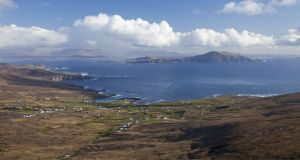 Clare Island as seen from Achill Island in Co Mayo with mainland Mayo behind. Photograph: Getty Images