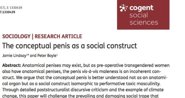 the penis story that didn t stand up fake story was written in the jargon typical of gender studies papers